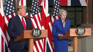 TRUMP RIPS LONDON MAYOR: President Trump FULL Speech With Theresa May