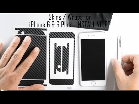 iPhone 6 CARBON Fiber Skin Wrap - Installation / Review