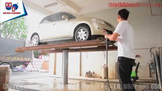 Cầu nâng 1 trụ rửa xe rẻ nhất tại Việt Nam nè các bác