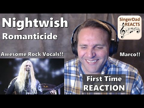 Classical Singer Reaction - Nightwish | Romanticide. Marco and Floor are Amazing! Loved it!!