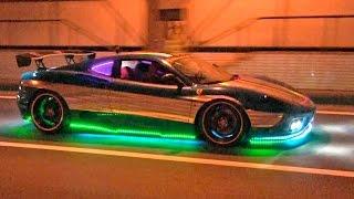 Custom LED Ferrari Speeds Through The Streets Of Tokyo