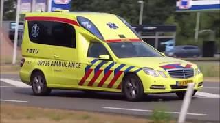 Ambulance 09-136 onderweg naar een melding