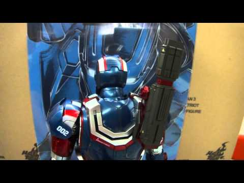 Hot Toys 1/6 Scale MMS195D01 Iron Man 3 Patriot Diecast collectible Figure In Stock