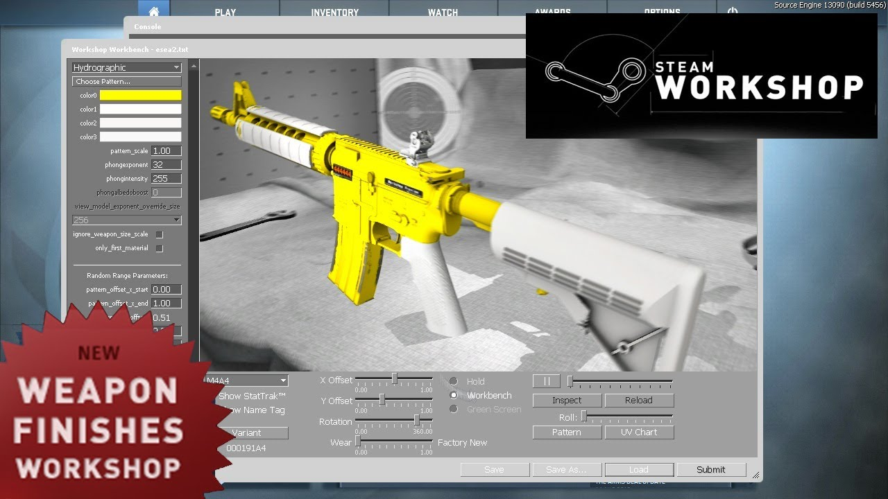 CS:GO Workshop: Weapon Finishes - How To Create Your Own Skin Guide - Update Video - YouTube