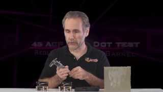 .45 ACP Gold Dot test: regular vs short barrel, in Springfield XDS and ClearBallistics gel