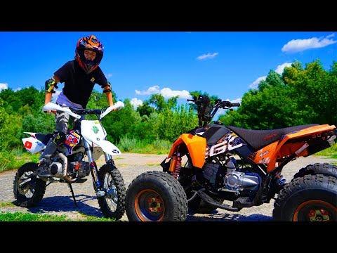 ПИТБАЙК или КВАДРИК ???Test Drive The Cross Bike.Quad bike or Pitbike ?