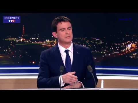 Manuel Valls - Journal 20h TF1 du 9 janvier 2015
