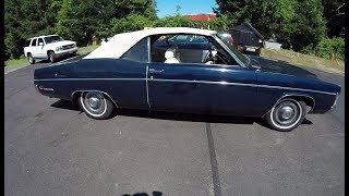 '70 Mercury Monterey Convertible Review! Walkaround, Up On Lift + Road Test.