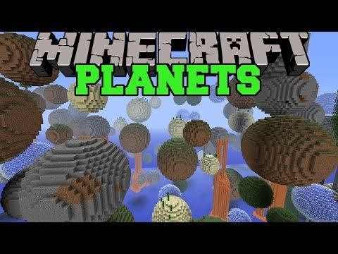 Minecraft: PLANET MOD (TONS OF MINI PLANETS TO EXPLORE!) Mod Showcase
