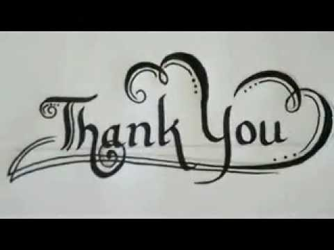 Calligraphy Examples Of Thank You Letter Youtube