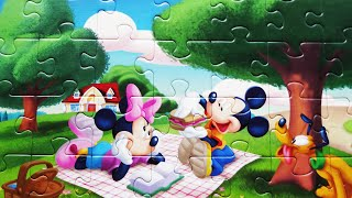 Puzzle Mickey Mouse Clubhouse Disney Puzzles For Kids Games Rompecabezas Minnie Mouse Pluto