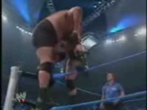 wwe  brock lesnar  vs big show (se rompe el ring)