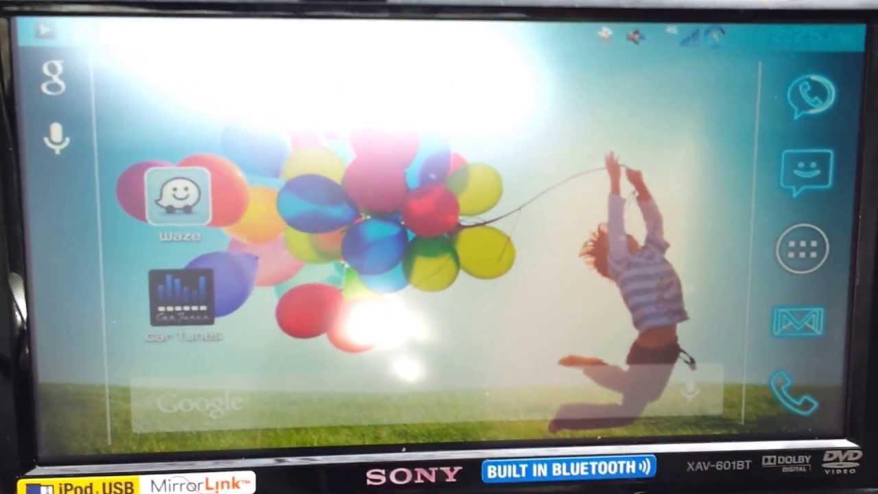 Xav 601bt Photo Trend Ideas Sony Wiring Harness Mirrorlink Fullscreen Drivelink Galaxy S3 Youtube