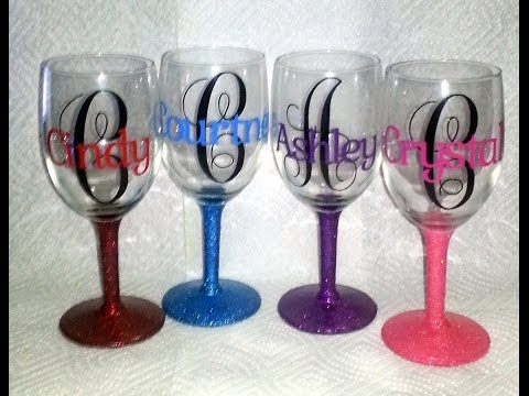 Diy decorate your own wine glass how to save money and for Do it yourself wine glasses