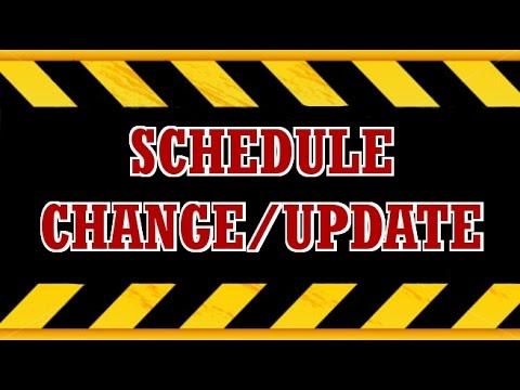 New Schedule +New series!!!