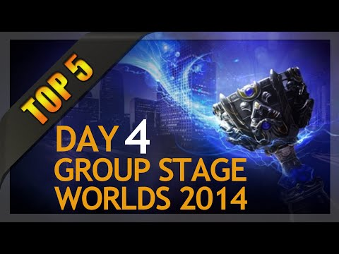 Top 5 Plays - Worlds Group Stage 1 Day 4 (League of Legends)