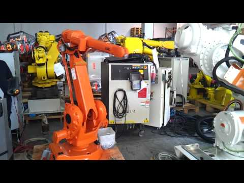 Used ABB IRB2400L M2004 industrial robot with IRC5 controller at reprobots.com