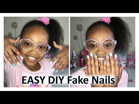 DIY Fake nails at home | Justice press on nails review
