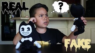 REAL vs FAKE Bendy and the Ink Machine Plushies!
