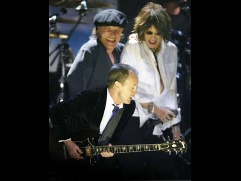 AC/DC performing their best song ever with Steven Tyler by Aerosmith during the Rock 'n' Roll Hall Of Fame 2003 Get ticket concerts: http://bit.ly/xUQaTU.