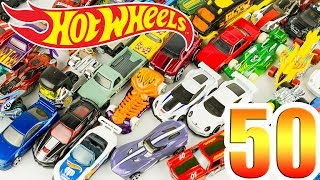 J'ouvre un Pack de 50 Voitures Hot Wheels Jouet Toy Unboxing Juguetes Cars for Kids Carros Hotwheels