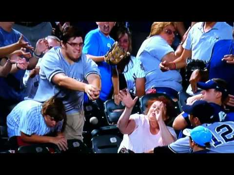 Lady Tries To Catch A Foul Ball With Her Face - Lady Tries To Catch A Foul Ball With Her Face