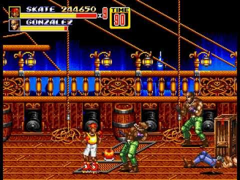 Streets of Rage 2 - Skate w/hardest difficulty (Max Score) - User video