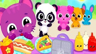 Fun Baby Care Kids Game - Cute & Tiny Food Trucks Festival - Baby Learn Cooking Yummy Food For Kids