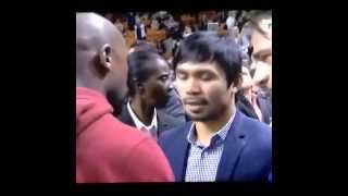 VIDEO: Manny Pacquiao meets Floyd Mayweather, finally
