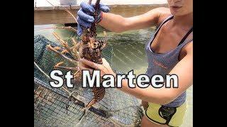 Caribbean Lobster St Marteen  ille de Pinel Karibuni Restaurant