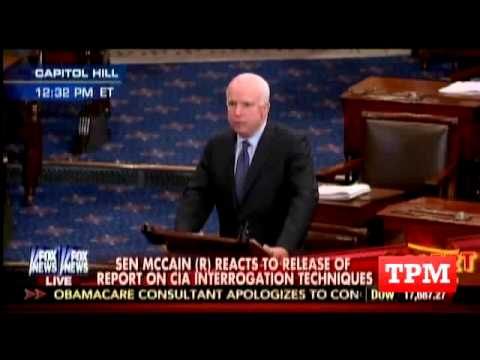 John McCain Gives Stirring Speech Against Torture