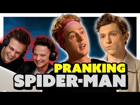TOM HOLLAND INTERVIEW *PRANK* (EARPIECE) ft Conor Maynard & Caspar Lee thumbnail