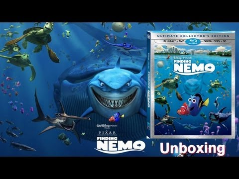 Finding Nemo Blu-ray 3D/DVD Unboxing - (2003/2012)