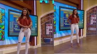 Carolina Ramirez - Skin Tight White Jeans 2-26-16