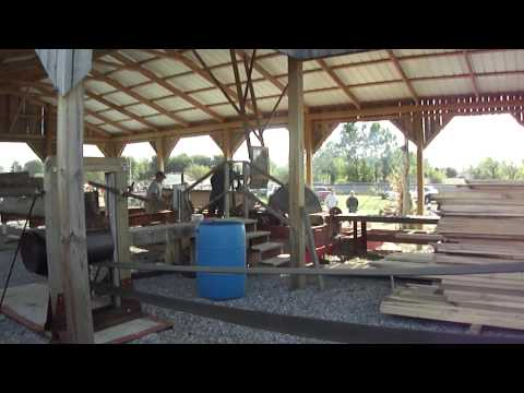 Saw Mill powered by Steam Tractor - Days Gone By - Portland TN.MP4