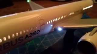 Revell A350 with LED lights
