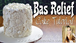 Bas Relief Style Cake Decorating Tutorial
