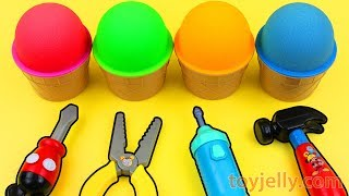 Kinetic Sand VS Mad Matter Kinetic Sand Ice Cream Surprise Eggs Kinder Surprise Toys Fun for Kids