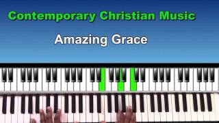 amazing grace(gospel piano lessons) comtemporary christian chords