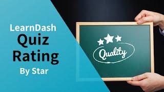 LearnDash Quiz Rating By Star