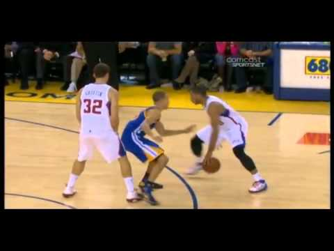 Stephen Curry gets ankle broken by Eric Gordon (Oct. 29, 2010)