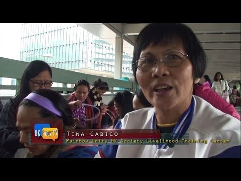 An OFW in HK group provides livelihood training for domestic workers