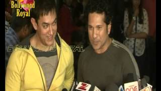 Aamir Khan, Sachin Tendulkar & others at the Screening of the film