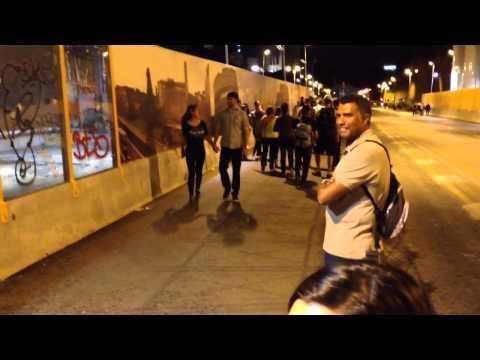 Sidewalk guitarist near the Colosseum