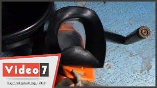 """.""""فالكون"""" تضبط قناع غاز و رصاصة حية بحوزة طالب بجامعة القاهرة"""