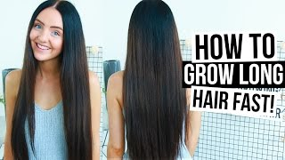 How To REALLY Grow LONG HAIR FAST & NATURALLY! (Easy Tips + Tricks) 2016