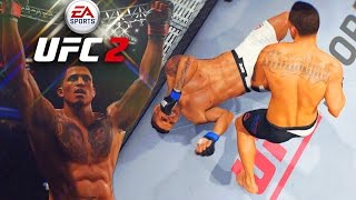 """Anthony """"Showtime"""" Pettis! Fight Didn't Last A Minute! EA Sports UFC 2 Online Gameplay"""