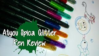 ART SUPPLY REVIEW ~ Atyou Spica Glitter Pens ~ Pokemon Starter Lineart