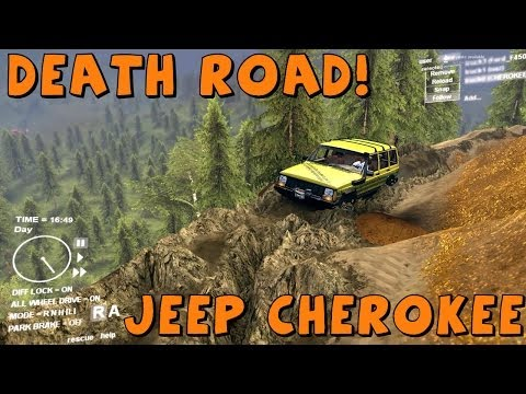 Spin Tires | Mod Review | Lifted Jeep Cherokee | Taking On The Death Road!