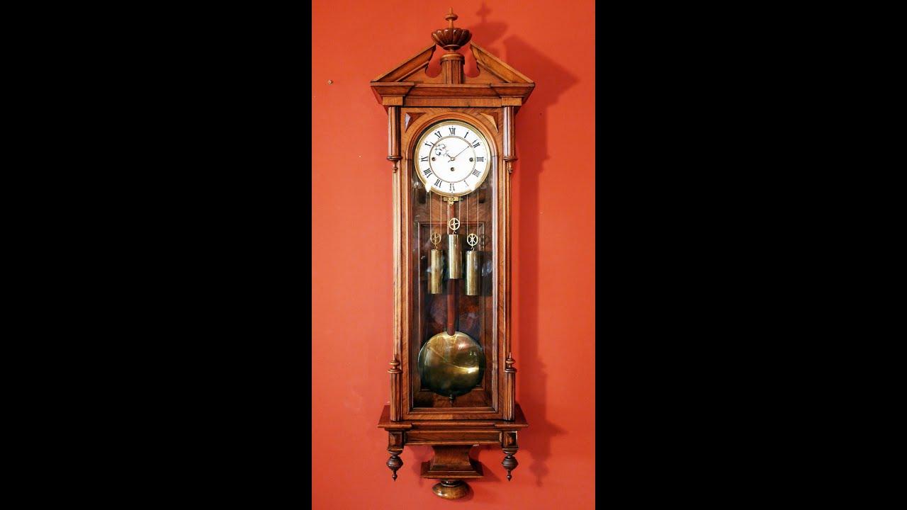 3 Weight Vienna Regulator Antique Clock Grande